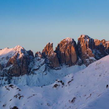 Tramonto sul Sassolungo, Dolomiti